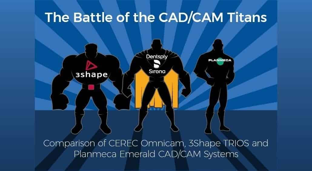 The Battle of the CAD/CAM Titans - Comparison of CEREC Omnicam, 3Shape TRIOS and Planmeca Emerald Systems